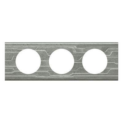 Plaque de finition triple legrand céliane matière furtif