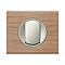 Plaque de finition simple LEGRAND Céliane matière chêne blanchi