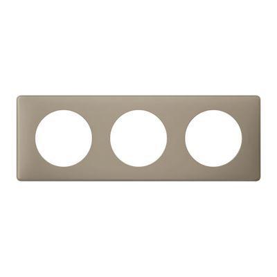 Plaque Céliane 3 postes Poudré Grès. Personnalisez votre intérieur avec un large choix de couleurs et matières de plaques décoratives Céliane. Fonction / type : Plaque triple - Usage du produit : Plaque de finition décorative - Finition : LES POUDREES - C
