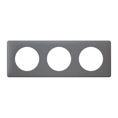 Plaque Céliane 3 postes Poudré Schiste. Personnalisez votre intérieur avec un large choix de couleurs et matières de plaques décoratives Céliane. Fonction / type : Plaque triple - Usage du produit : Plaque de finition décorative - Finition : LES POUDREES