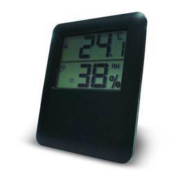 Thermomètre Hygromètre intérieur magnétique OTIO noir