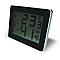 Thermomètre / Hygromètre avec écran LCD Otio noir