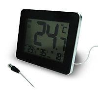 Thermomètre avec sonde filaire int/ext Otio noir