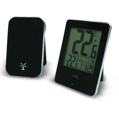 Thermomètre avec capteur extérieur sans fil OTIO noir