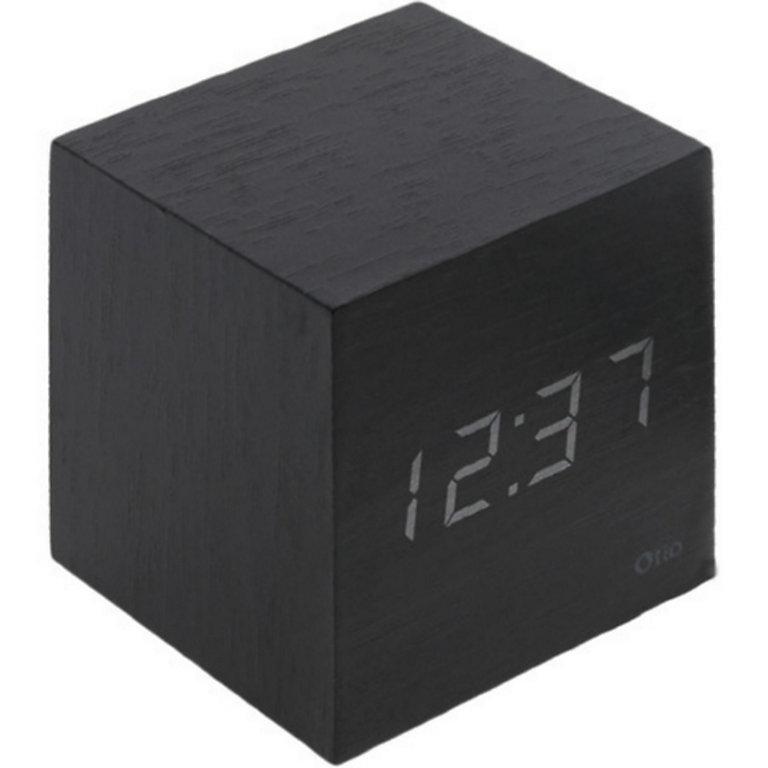 Thermomètre cube finition effet ébène