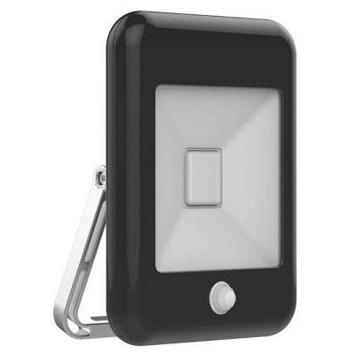Projecteur extérieur à détection SAMPA HELIOS Rétro noir LED 10W