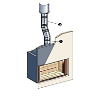 Régulateur de tirage pour ø150 à 200 mm Poujoulat