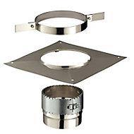 Kit accessoires pour flexible Ø150 mm carré Poujoulat