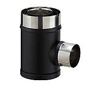 Té de raccordement ø80/130 PGI pour poêle à granulés Poujoulat