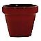 Pot rond terre cuite émaillée cerise Ø15 x h.12,8 cm