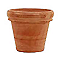 Vase rond terre cuite Doppio bordo patiné Ø50 x h.42,5 cm