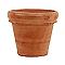 Vase rond terre cuite Doppio bordo patiné Ø62 x h.49 cm