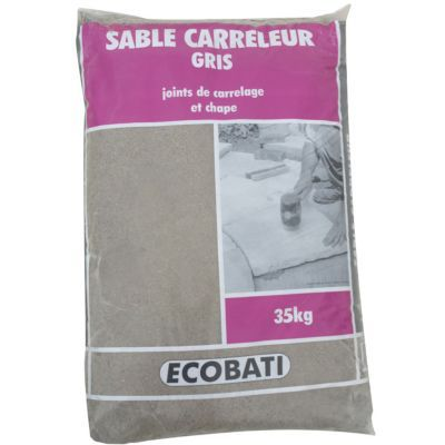 sable pour pose de pav gris 35kg castorama. Black Bedroom Furniture Sets. Home Design Ideas