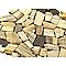 Galets décor bois beige et marron 30 x 30 cm