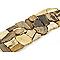 Frise galets beige et marron 10 x 30 cm