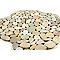 Mini galets rectangle golden beige 30 x 30 cm