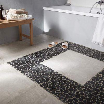 galets noir brillant 30 x 30 cm castorama. Black Bedroom Furniture Sets. Home Design Ideas