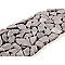 Frise micro mosaïque grise 10 x 30 cm