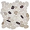 Galets prune/blanc/beige 30 x 30 cm