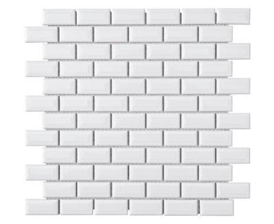 Mosaque Mur Mini Mtro Blanc 30 X 30cm