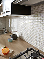 Mosaïque mur Mini Métro blanc 30 x 30cm