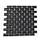 Mosaïque noir 30 x 30 cm Mini Métro