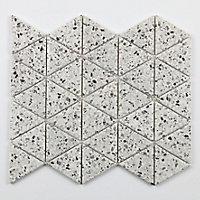 Mosaïque blanc triangle Terrazzo