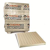 Panneau polyuréthane Thermeo bords rainurés bouvetés - 1 x 1,2 m ép.80 mm (vendu au panneau)