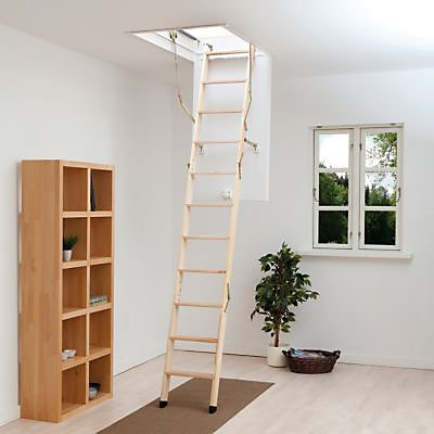 Escalier Escamotable Bois Clickfix 76 Silver 12 Marches Sapin Castorama