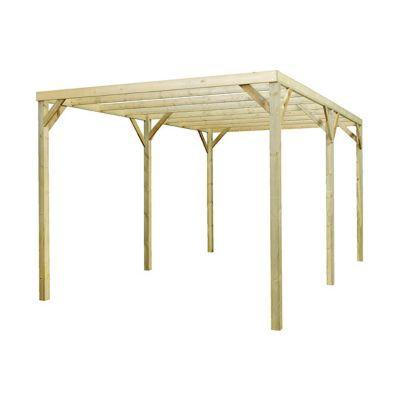 carport autoportant bois burger monza 2 supports castorama. Black Bedroom Furniture Sets. Home Design Ideas