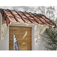 Auvent bois porte d'entrée 150 x 80 cm