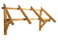 Auvent bois pour porte d'entrée Paraline 140 x 80 cm