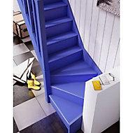 Escalier 1/4 tournant droit bois Normandie l.80 cm 13 marches sapin