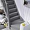 escalier 1 4 tournant droit bois normandie cm 13 marches sapin castorama. Black Bedroom Furniture Sets. Home Design Ideas
