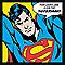 Toile sur châssis Superman 33 x 33 cm