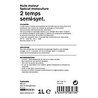 Huile pour mélange 2 temps semi-synthèse Diall 1L