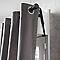 Barre à rideaux métal COLOURS Loik noir brossé mat Ø28 mm x L.150 cm