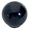 Bouton de meuble plastique COLOURS Flashy noir Ø30 mm