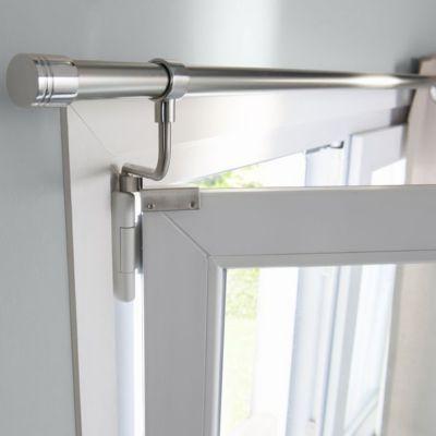 Barre à rideaux métal colours chris chromé mat Ø20 mm x l.150 cm