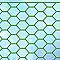 Grillage triple torsion vert 25 x 25mm, L.2,5 x h.0,5 m