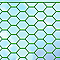 Grillage triple torsion vert 13 x 13mm, L.2,5 x h.0,5 m