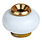 Butoir de sol DIALL monture laiton à vis blanc Ø3 x h.3,7 cm