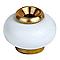 Butoir de sol DIALL laiton blanc Ø3 x h.3,7 cm