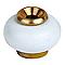 10 butoirs de sol DIALL monture laiton à vis blanc Ø3 x h.3,7 cm