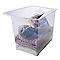 Boîte de rangement avec couvercle en plastique Kristal 70L transparente