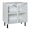 Meuble bas sous-évier blanc COOKE & LEWIS 80 cm