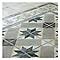 Angle de frise sol et mur décor blanc/gris 20 x 20 cm 1930