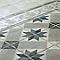 Carrelage sol et mur décor blanc/gris 20 x 20 cm 1930 (vendu au carton)