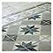 Frise sol et mur décor blanc/gris 20 x 20 cm 1930
