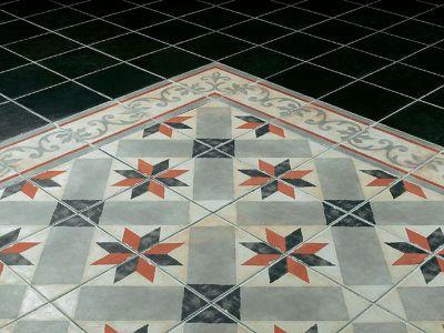 Frise Sol Et Mur Décor Rouge Blanc 20 X 20 Cm 1930 Castorama